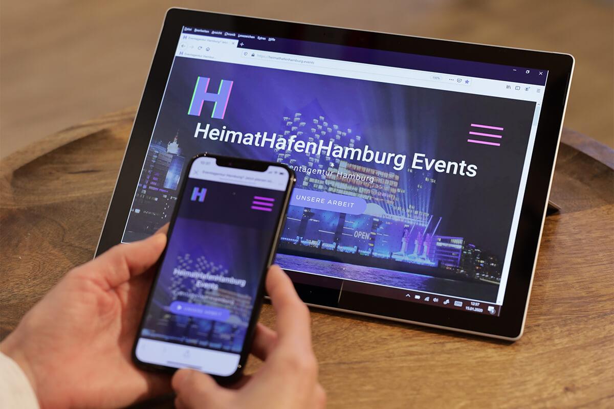 Eventagentur Hamburg Webseite