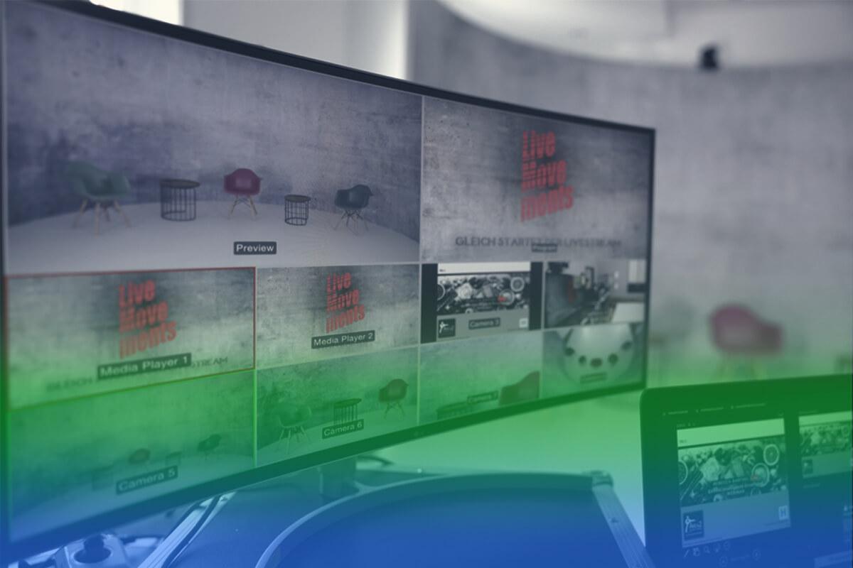 Livestream für digitales und hybrides Eventmanagement